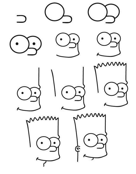 Прикольные рисунки для срисовки поэтапно для мальчиков