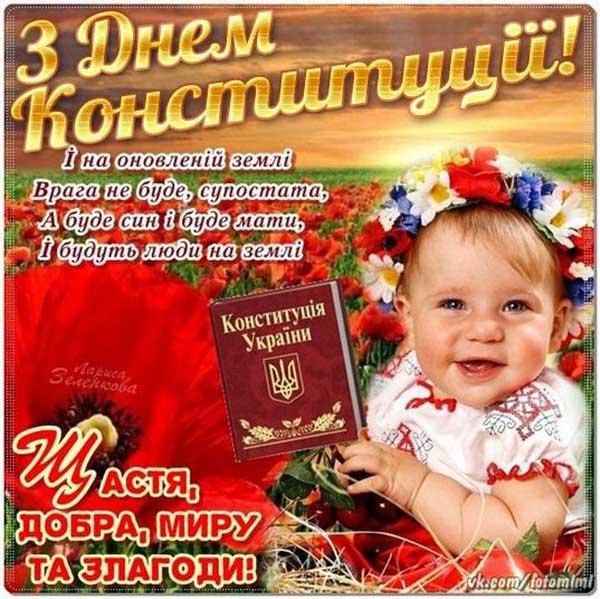 Композиции, картинка с днем конституции украины